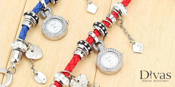 Faux Leather Weave Band Bracelet Watch